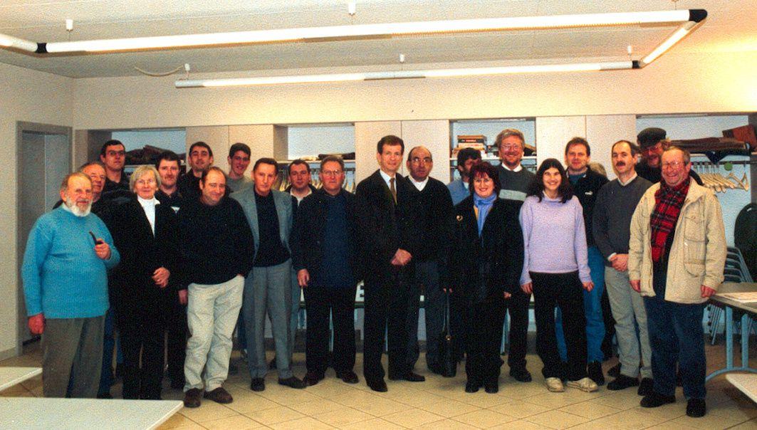 Image1 : lors de l'Assemblée Générale de l'ALEMF en 2004 -- Image2 : Lors de l'Unique Sortie du Picasso X3837 de l'A.L.E.M.F. sur le réseau SNCF  -- Image3 :  Invité lors de la Fête des 100 ans de la ligne de Chemin de Fer METZ -VIGY - ANZELING 1908-2008 -- Image4 : Construction de l'Evitement de BTLE en 1996  Image 5  : Diplome de membre d'Honneur remis en 2007