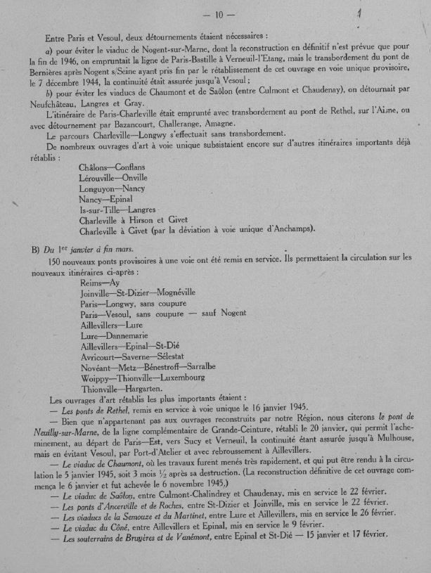 HISTOIRE  : Les Dégats  &quot&#x3B;REGION EST&quot&#x3B; 1944-1945