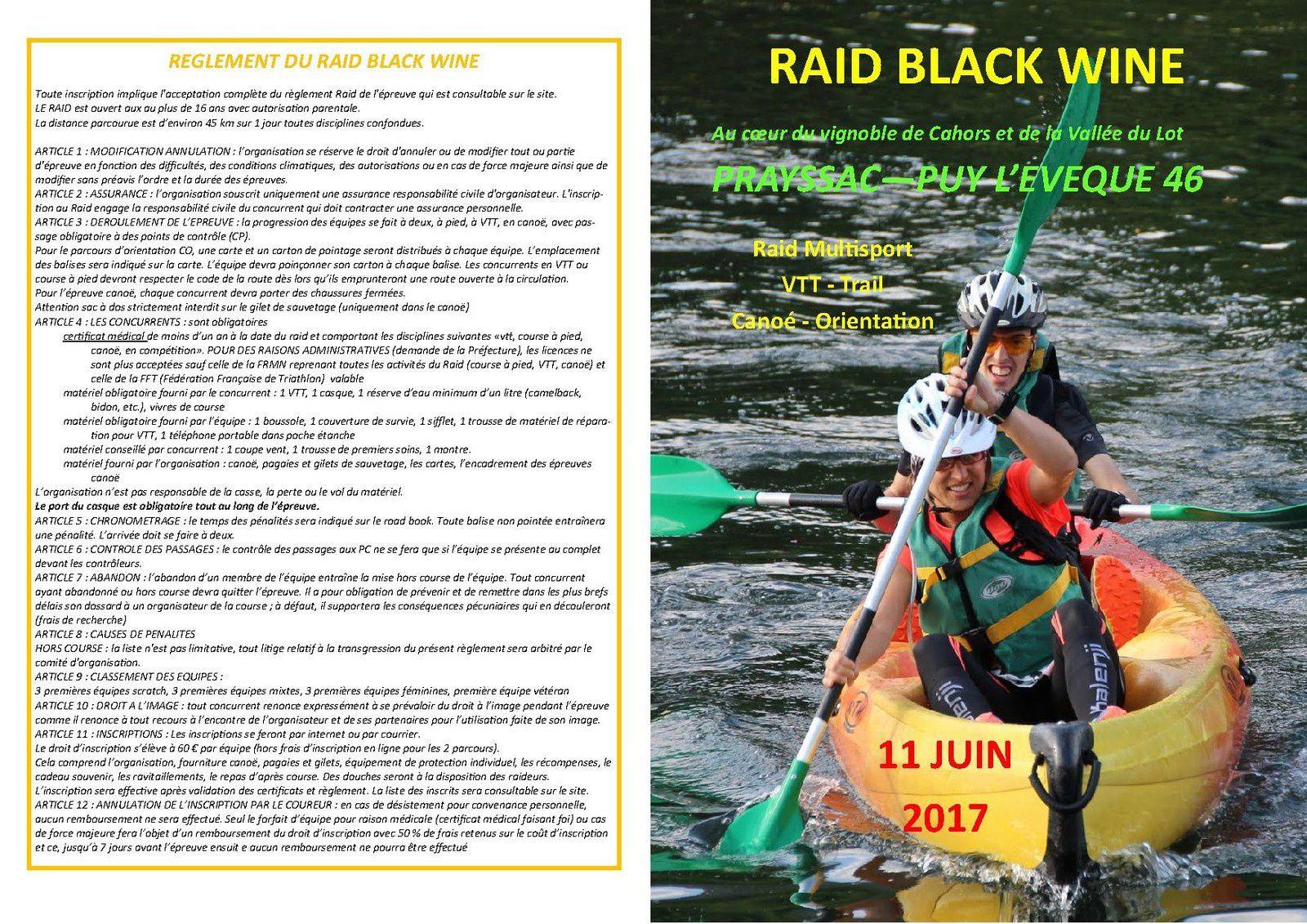 RAID BLACK WINE 2017