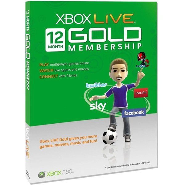 Xbox Gold - Xbox 360 LIVE 12 Month Gold Membership Card