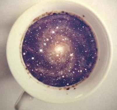 Les galaxies dans le marc de café