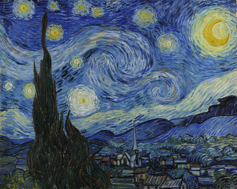 The Starry night – Van Gogh.