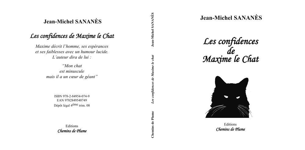Les confidences de Maxime le Chat - Jean-Michel Sananès