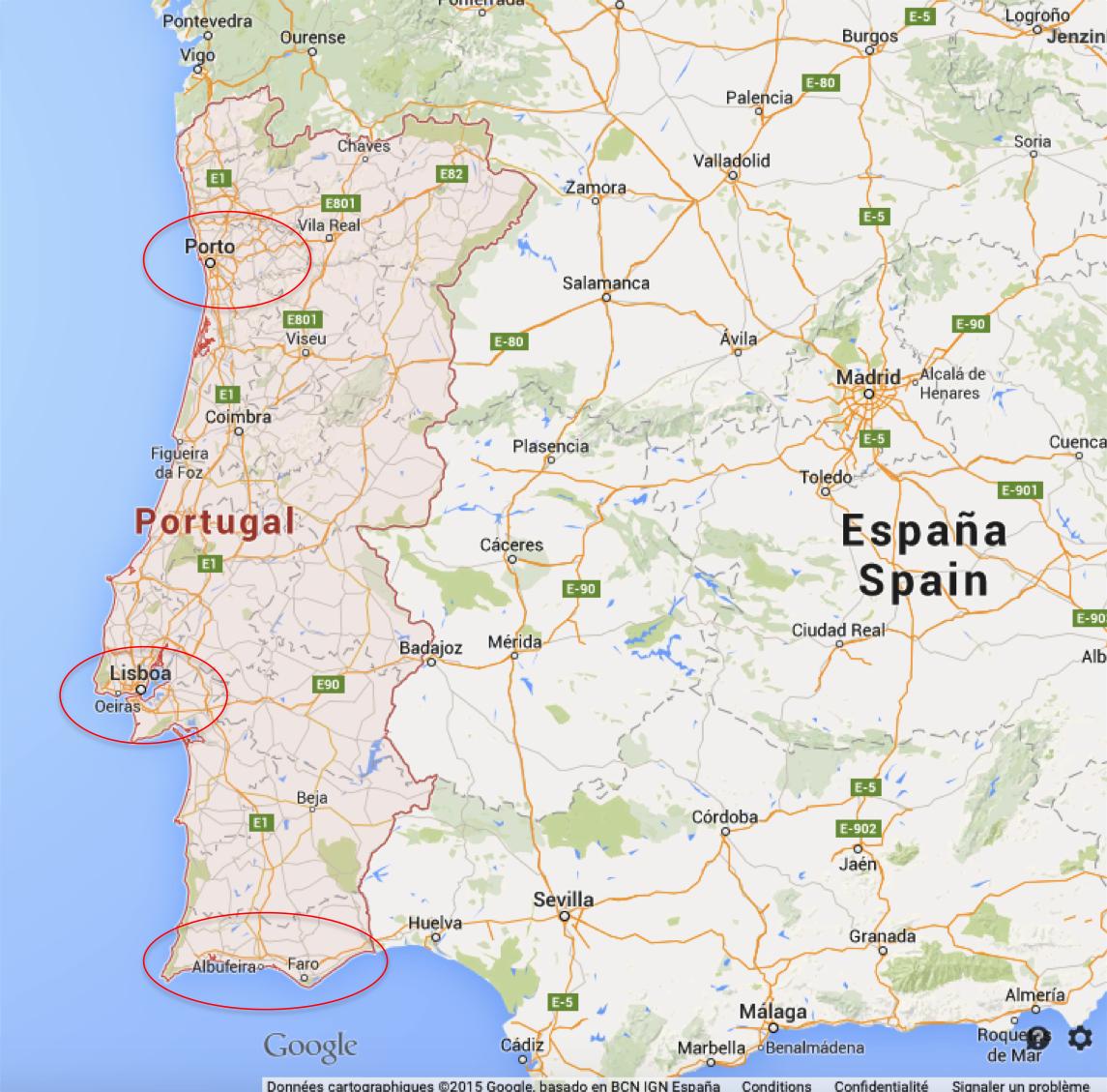 Porto, Lisbonne ou Algarve ?