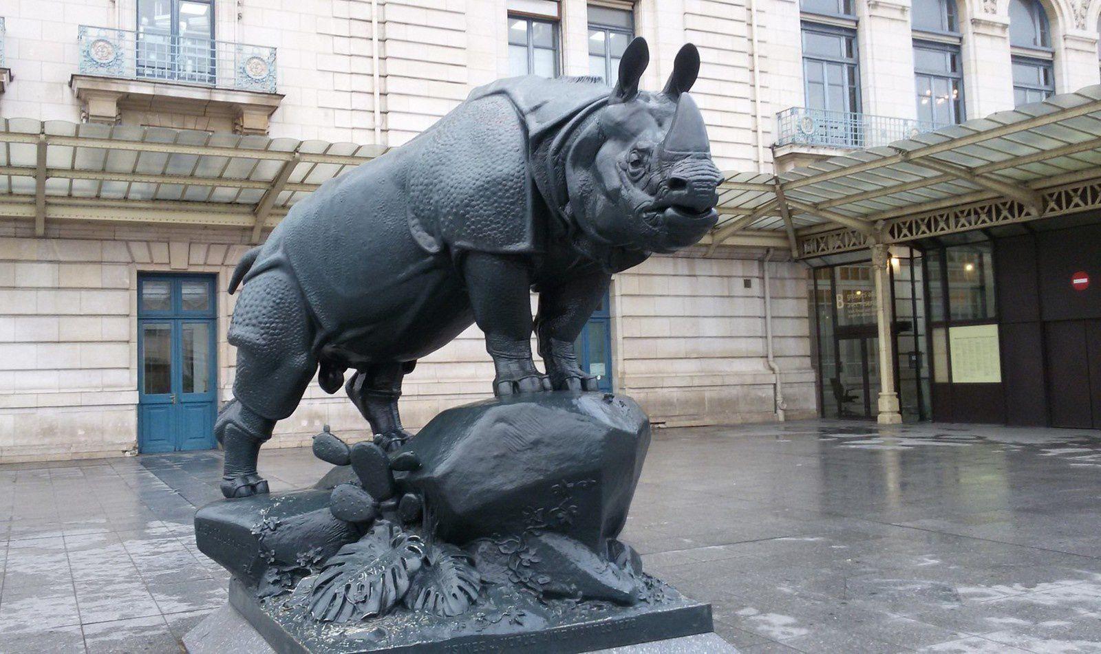 Statues ORSAY - Rhinocéros