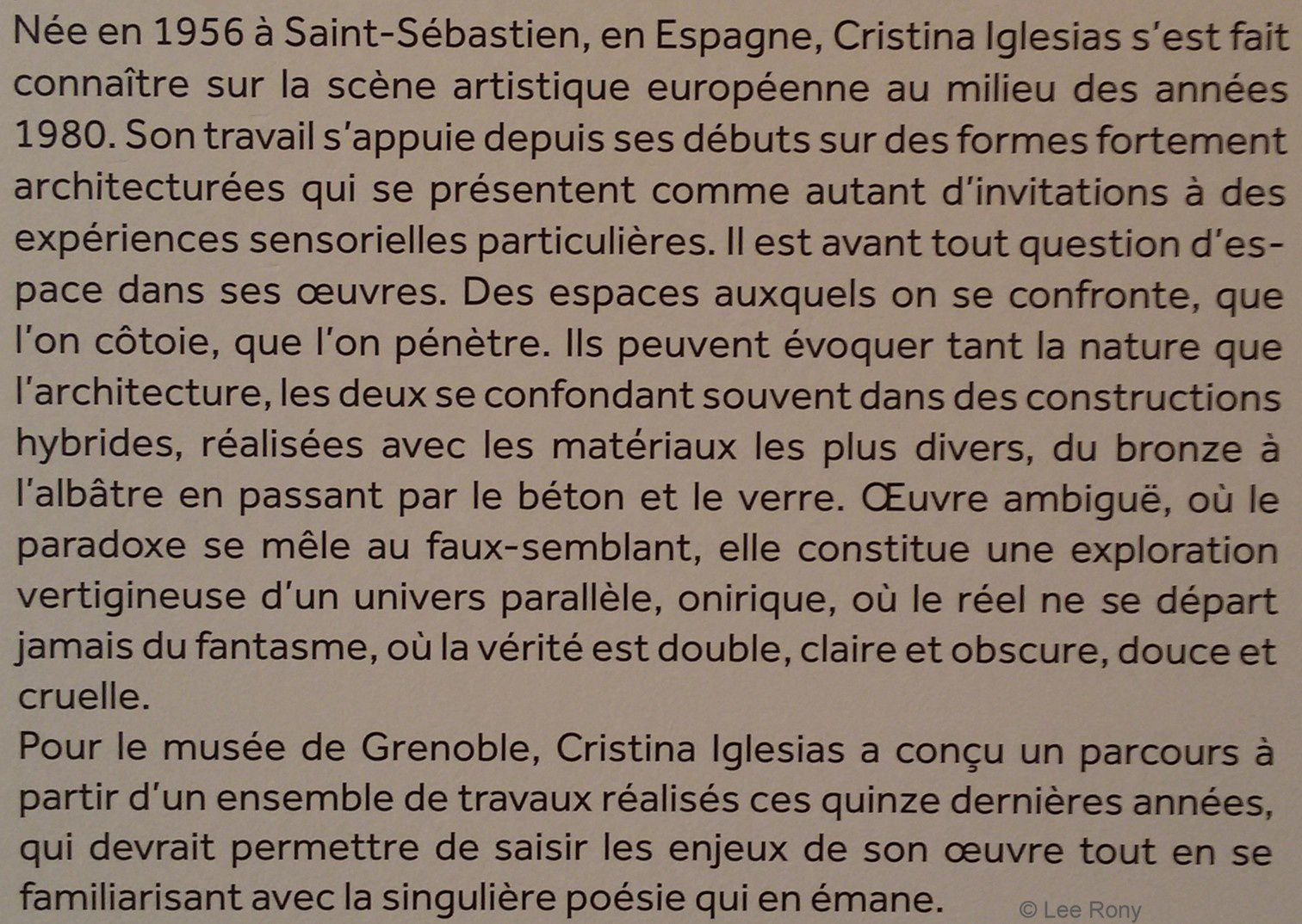Christina Iglesias - Grenoble