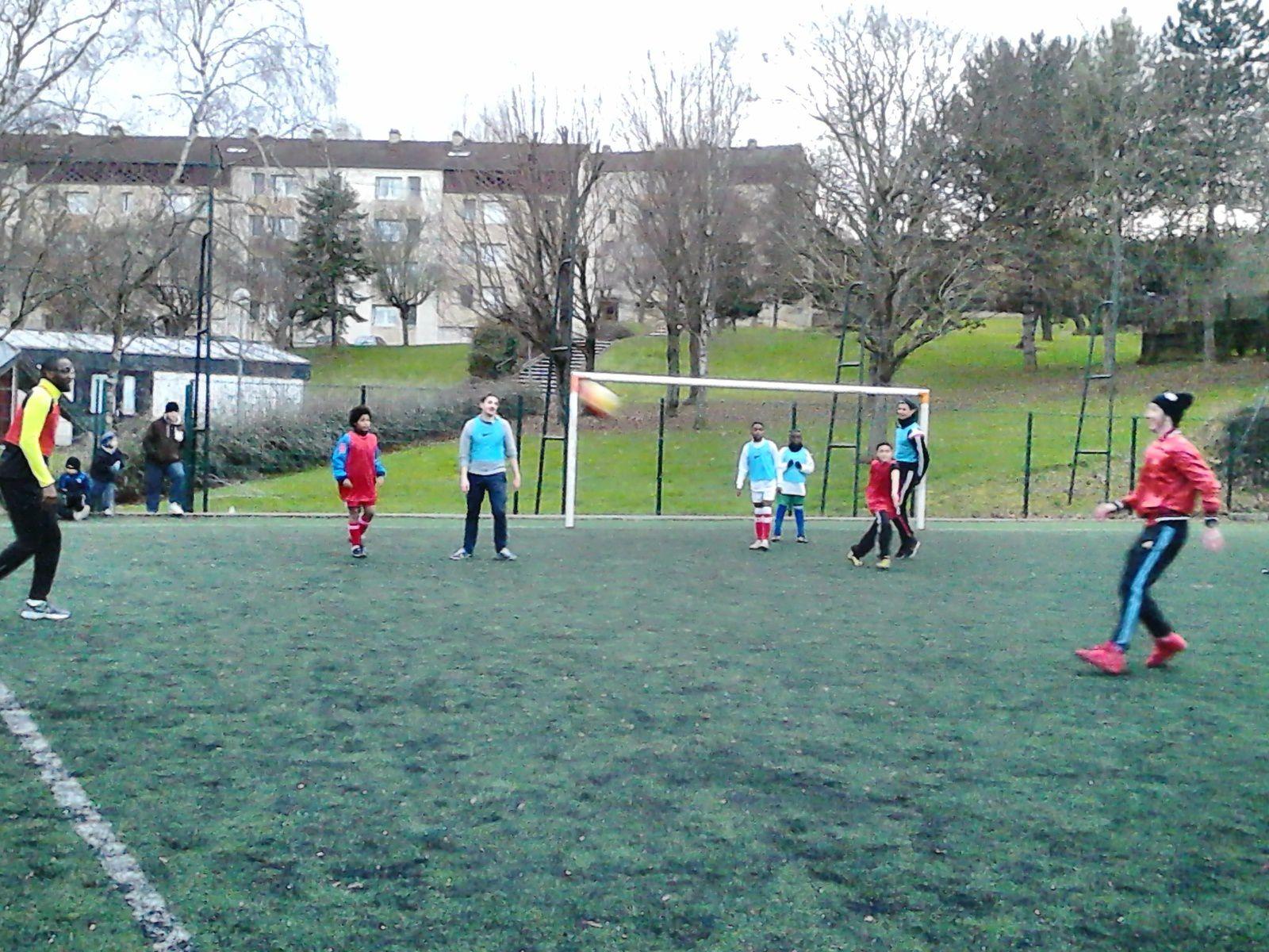 Vacances d'hiver à l'école de foot des Rosoirs et départ d'Ayoub