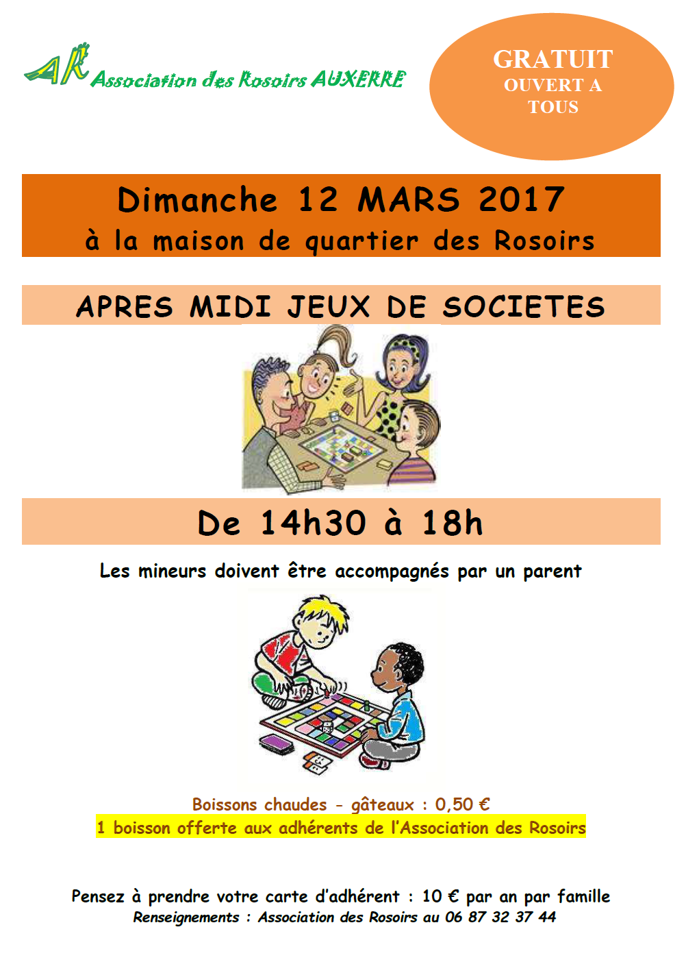 Week end du 11 et 12 mars 2017