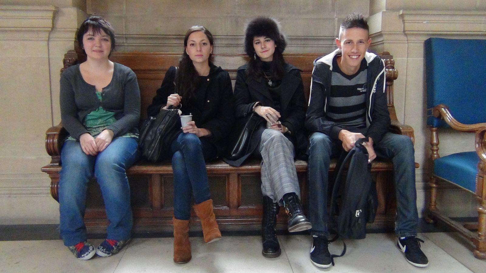 Alexandra, Audrey, notre vice-présidente (Delphine) & Alex.