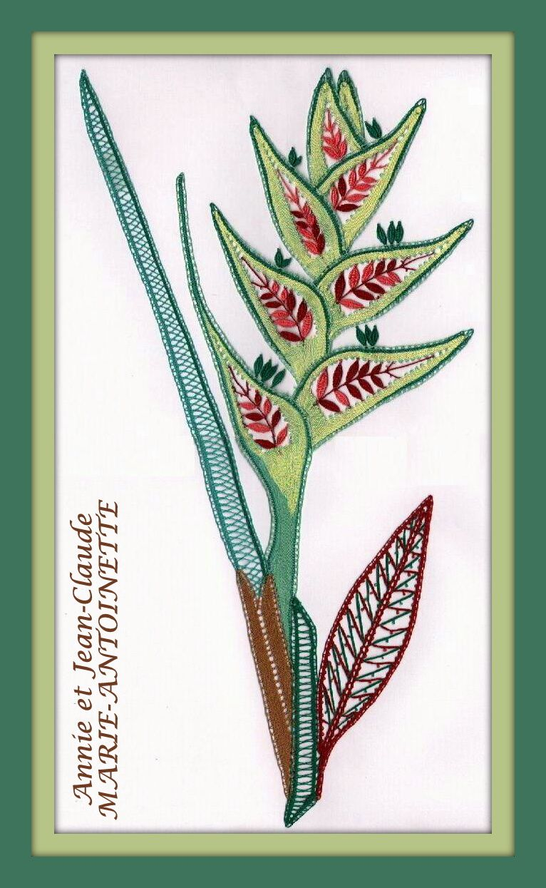 """""""Heliconia"""" Prix : 3,00 € (Format A3)"""