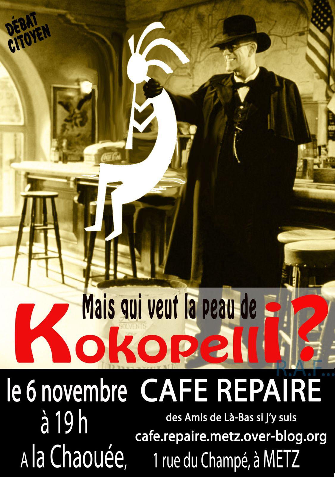au programme du café repaire le mercredi 6 novembre