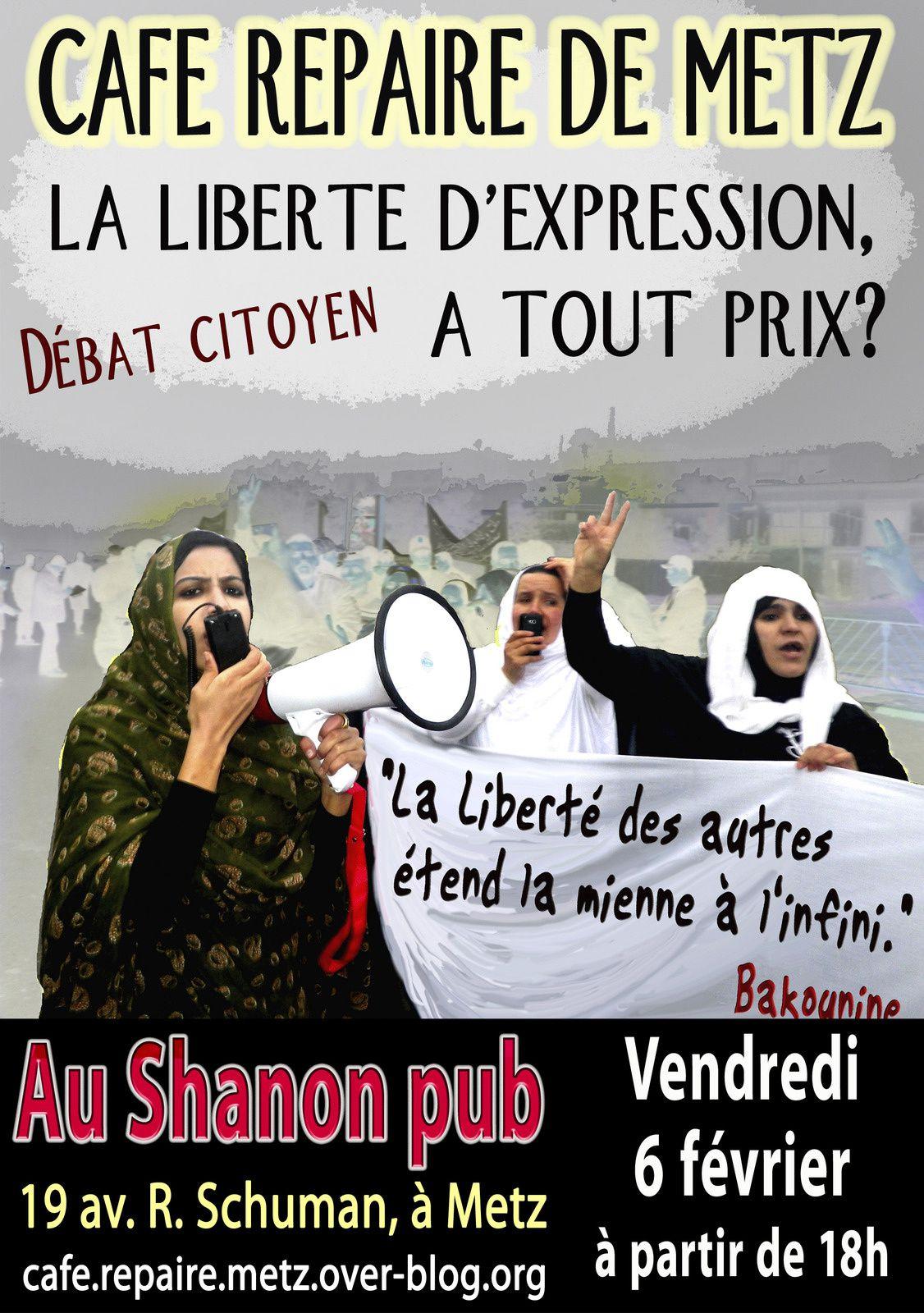 débat de février 2015 : La liberté d'expression, à tout Prix ?