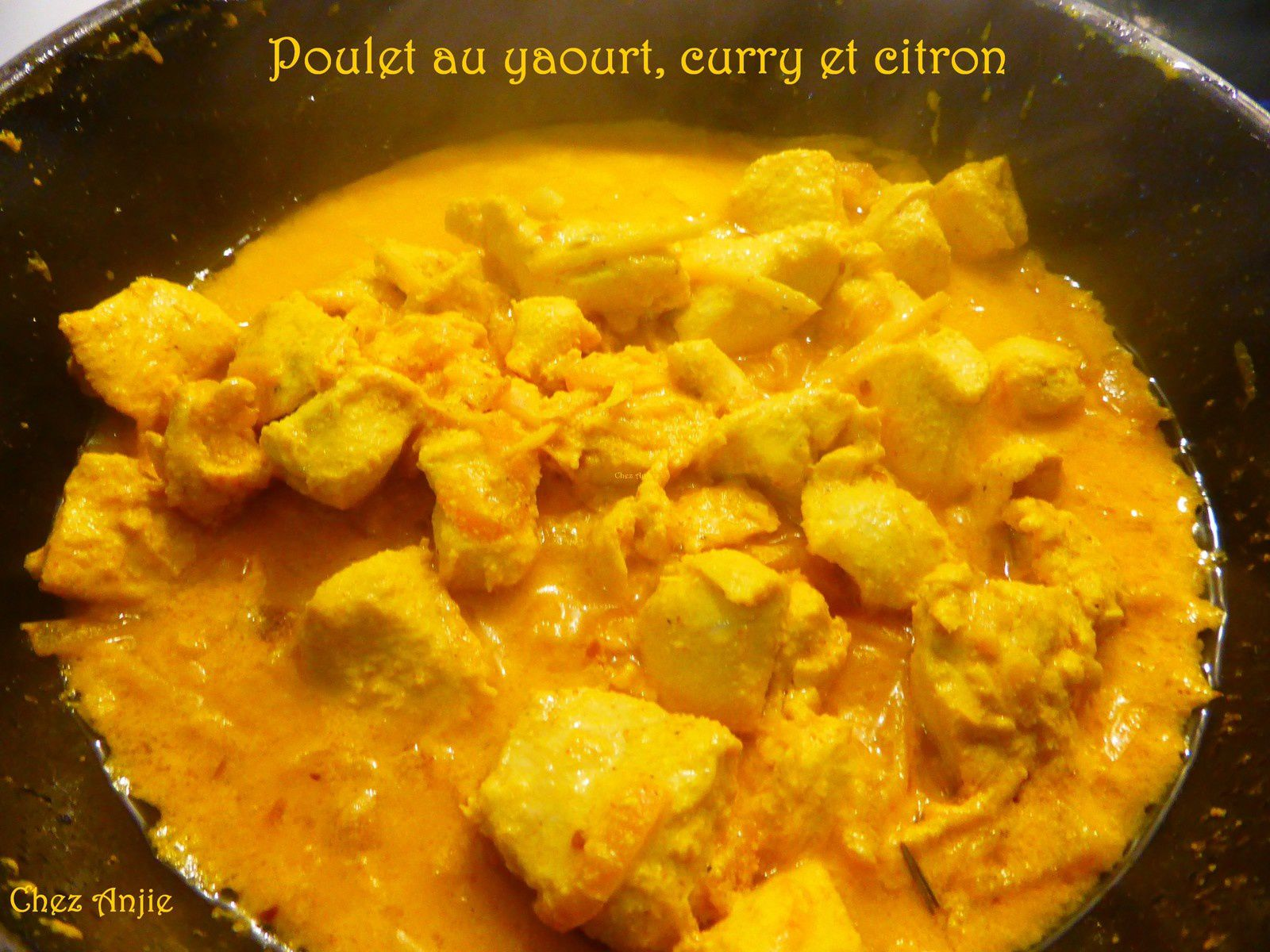 Poulet au yaourt, citron et curry