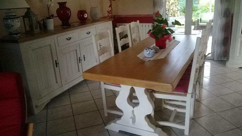 Table et Chaises avec les produits Camaëlle