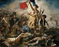 La liberté guidant le peuple par DELACROIX