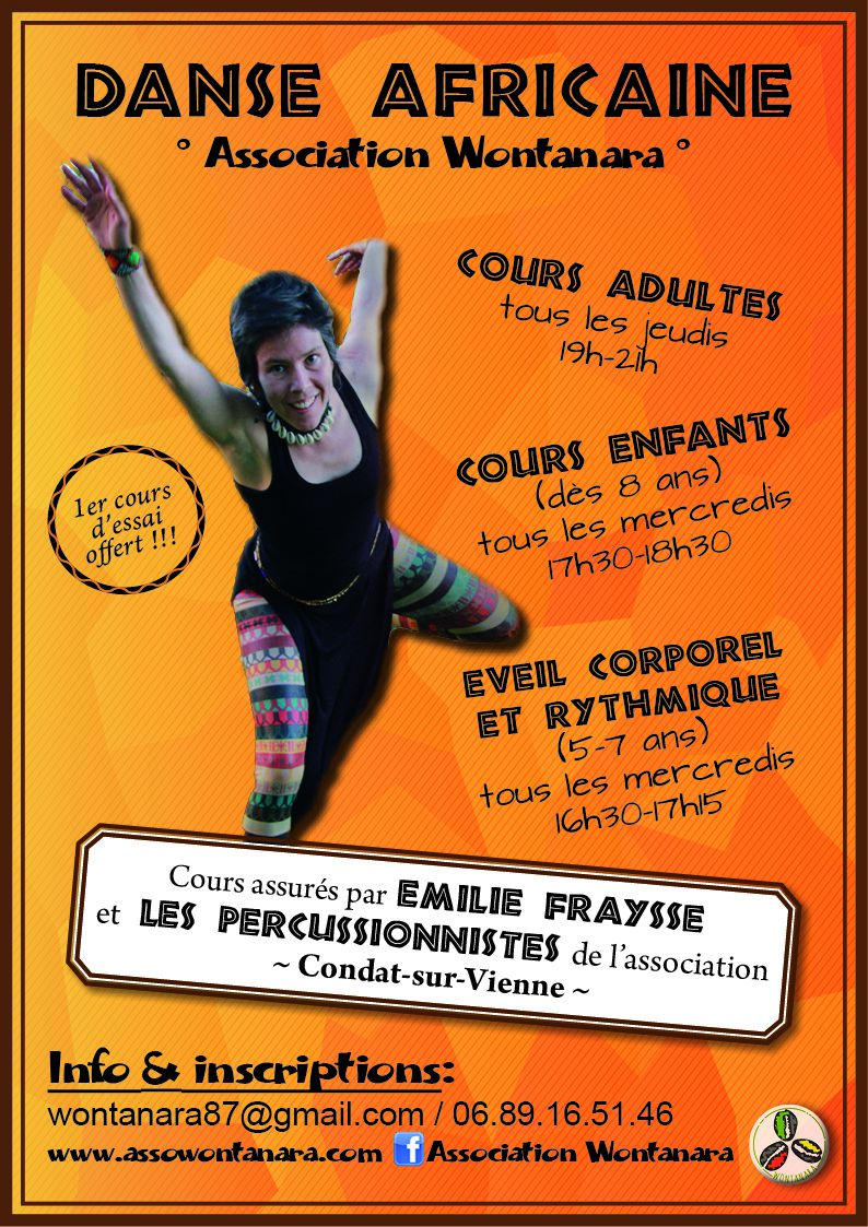 COURS DANSE AFRICAINE 2016-2017