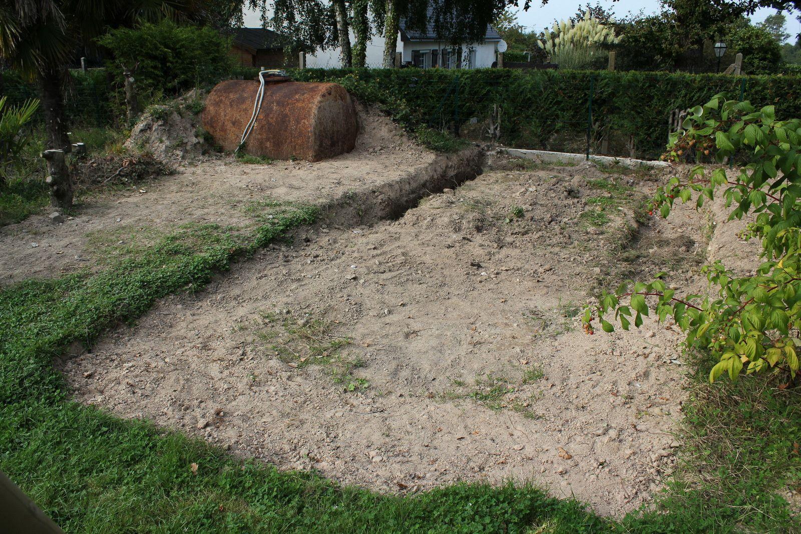 Suppression des fondations de la serre