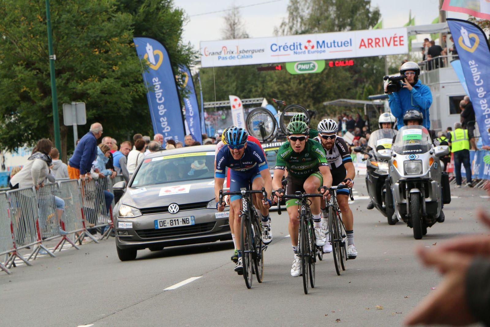 Kristoffer Skjerping, Cyril Gautier et Simon Geschke.