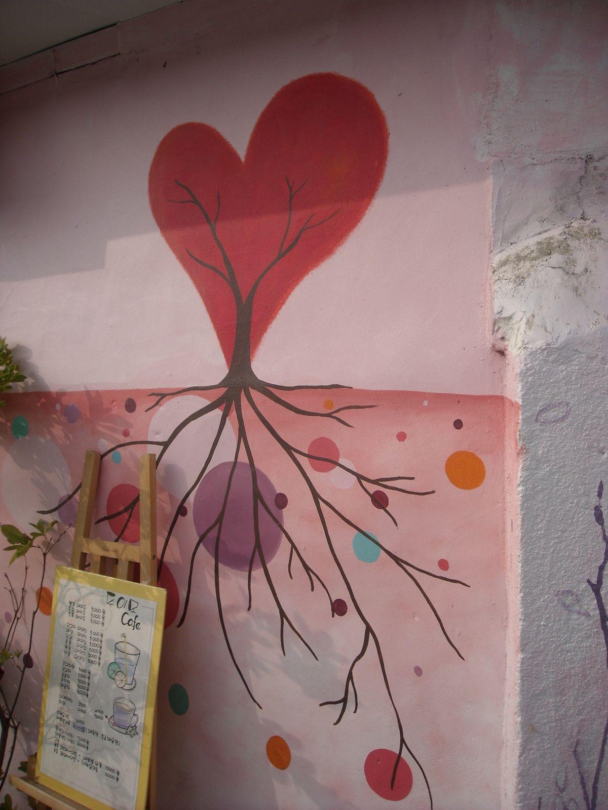 1. Japchae bap a au terminal de bus de Gwangju   2 a 6. Art mural   7. Omokdae  8. Vue sur Hanok maeul   9 a 11. Le village