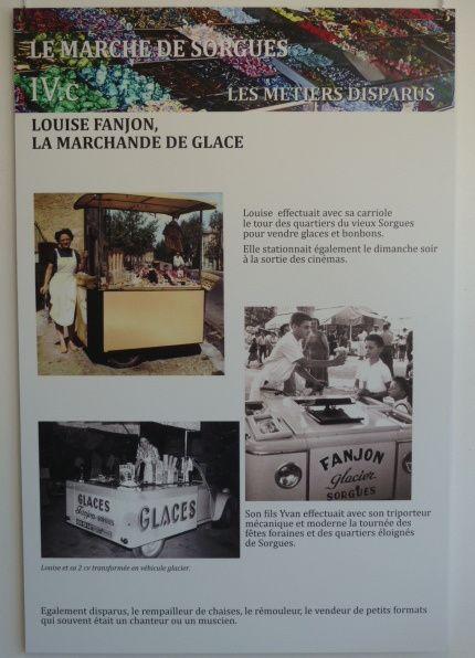Planche présentée au pôle culturel Camille Claudel lors de l'exposition sur le marchés de Provence