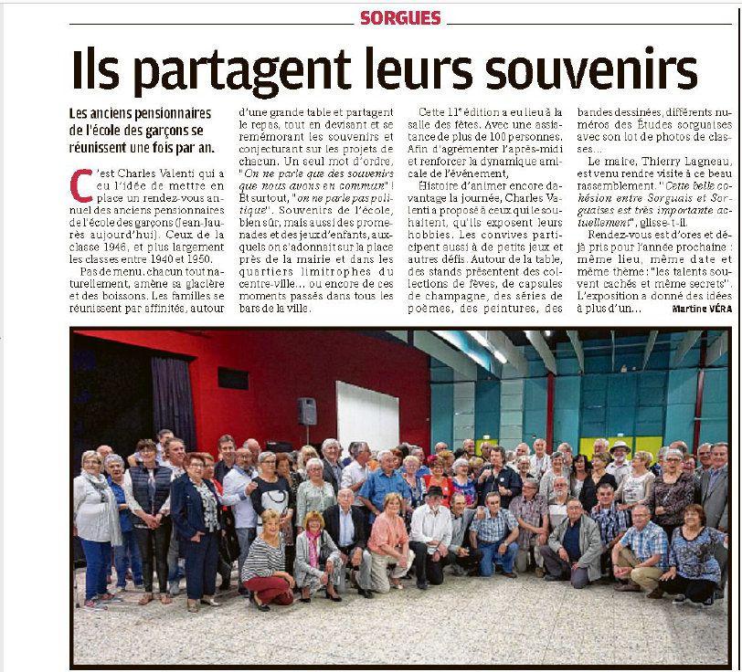 Article de presse de la Provence résumant cette journée.