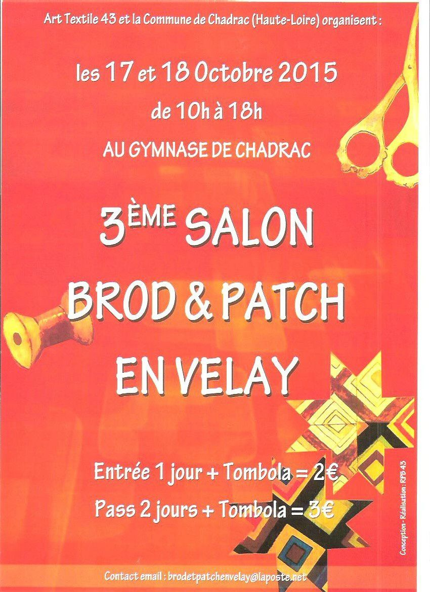 Brod &amp&#x3B; Patch en Velay, c'est ce Weekend !