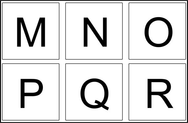 Majuscules Lettre De L Alphabet A Imprimer Et Decouper