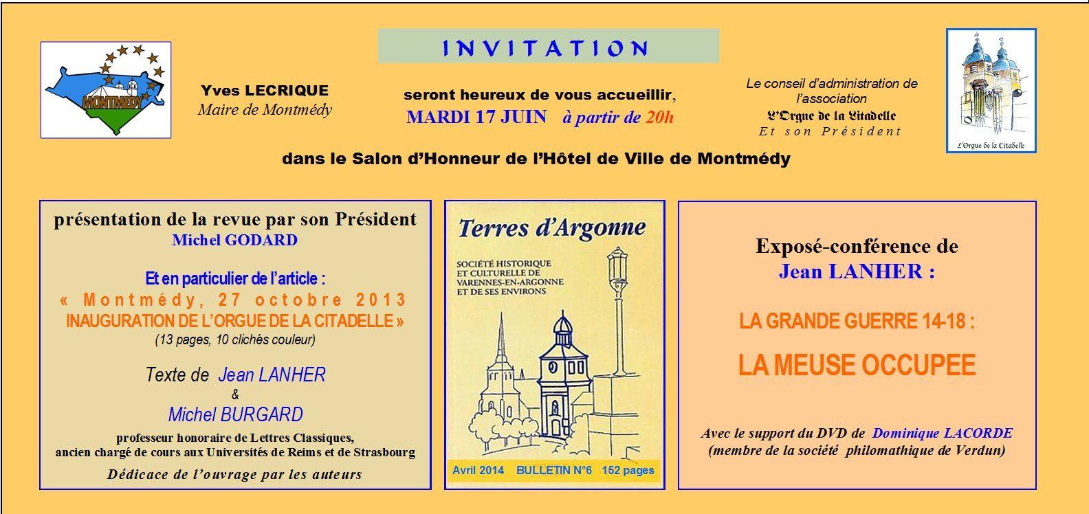 Conférence à Montmédy