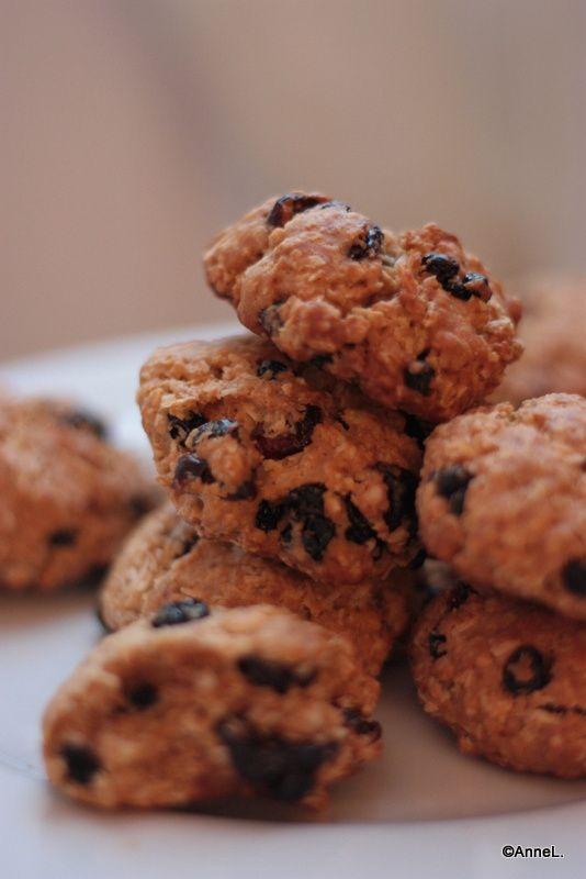 Biscuits au gruau, coco et canneberges