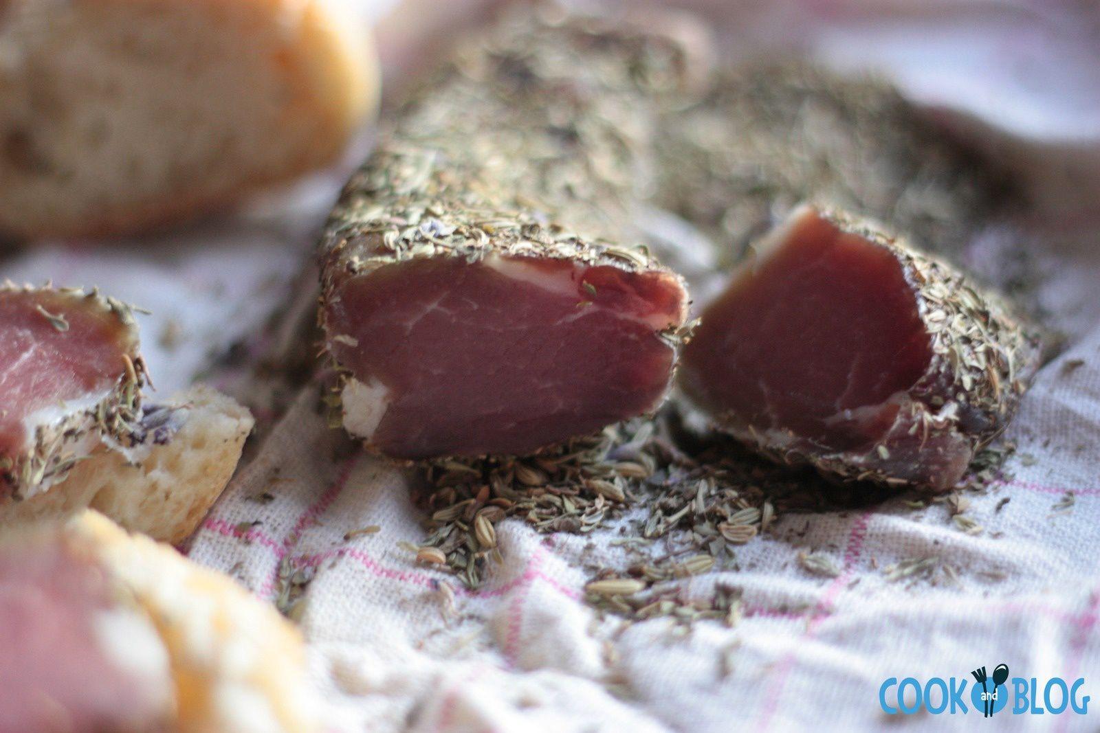 Filet de porc séché aux herbes (test internet)