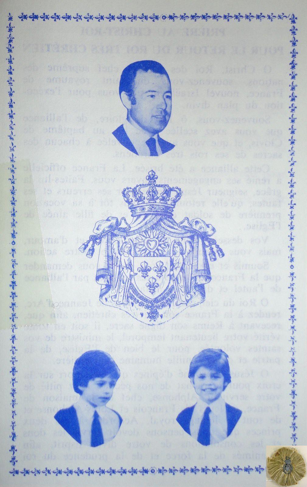 ALPHONSE, FRANCOIS ET LOUIS DE BOURBON