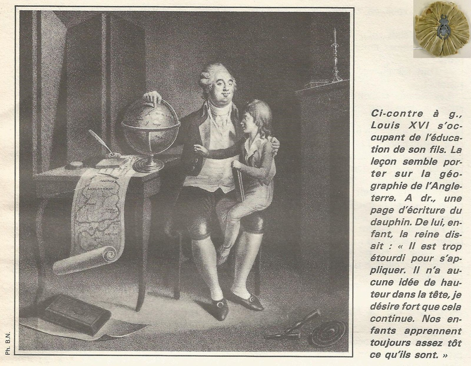LOUIS XVI S'OCCUPANT DE L'ÉDUCATION DE SON FILS