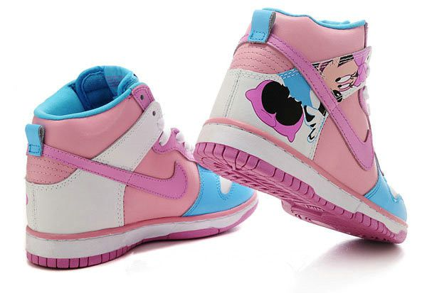super popular c259d 173db Minnie Mouse Cartoon Nike Dunk Sneakers Custom High Tops Pink is lovely