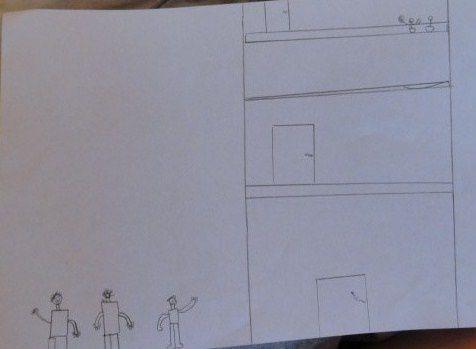 Eren, d'origine Turque, a fait ce dessin pour ses cousins restés au pays.