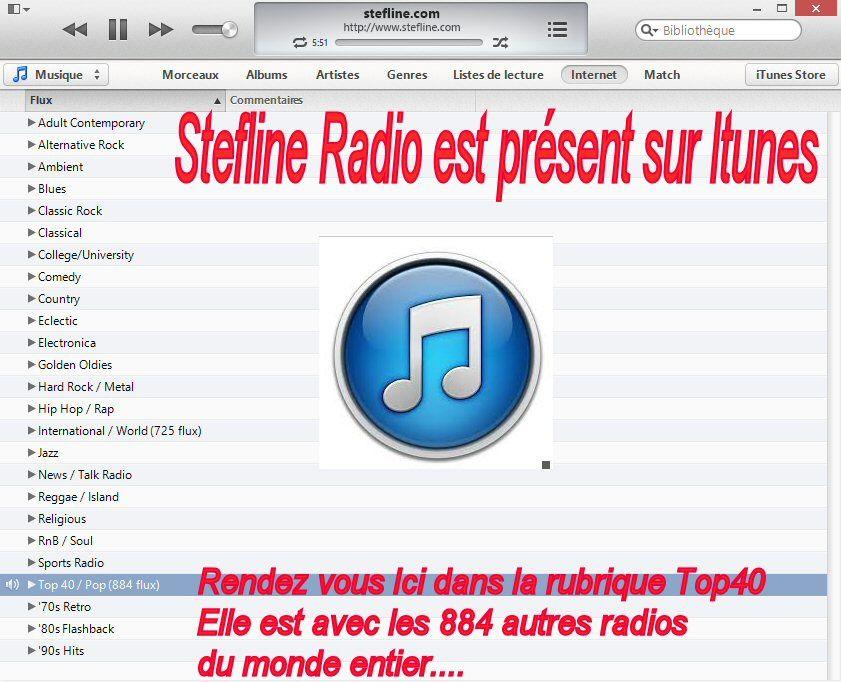 Stefline Radio est présent sur Itunes