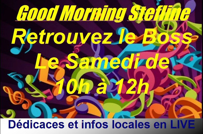Ce 29/10, Votre Emission LIVE Good Morning Stefline
