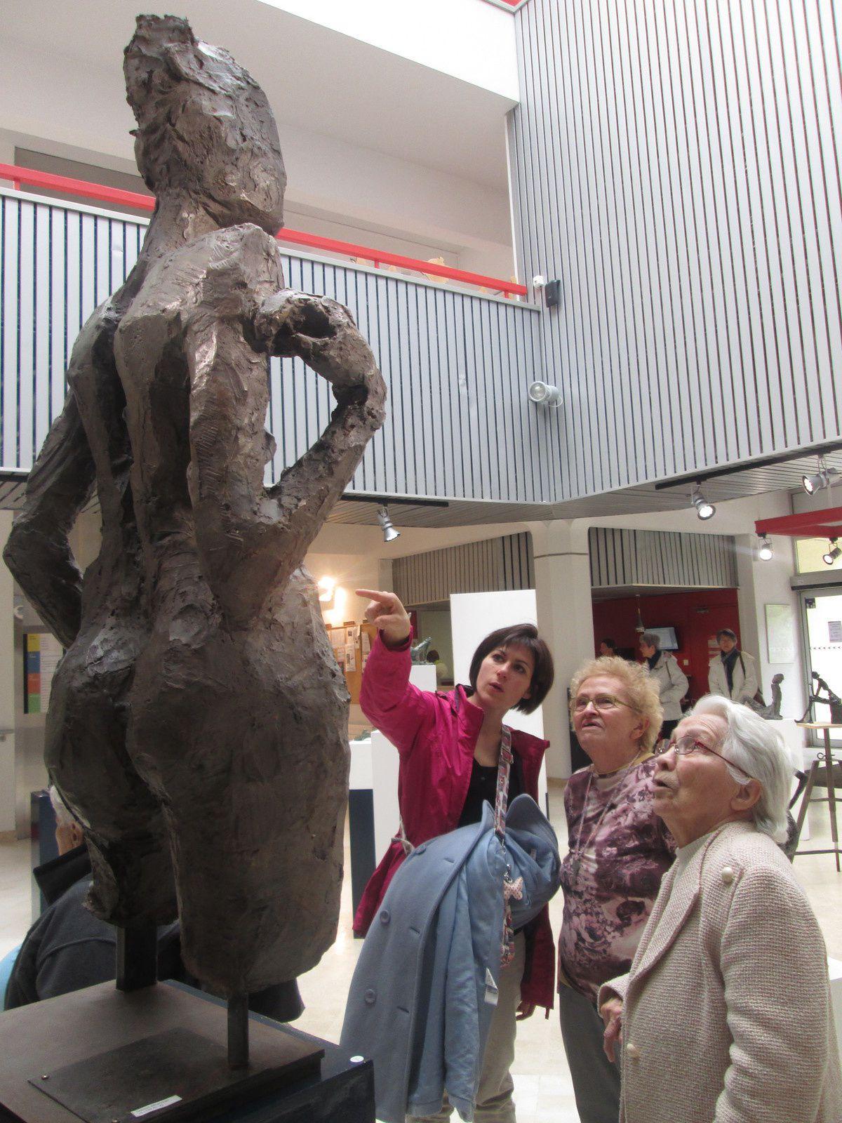 Visite de la galerie de Sandra Jourdain et de l'exposition au centre culturel d'Avrillé