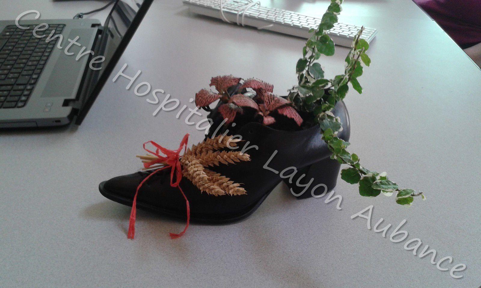 Les chaussures décorées