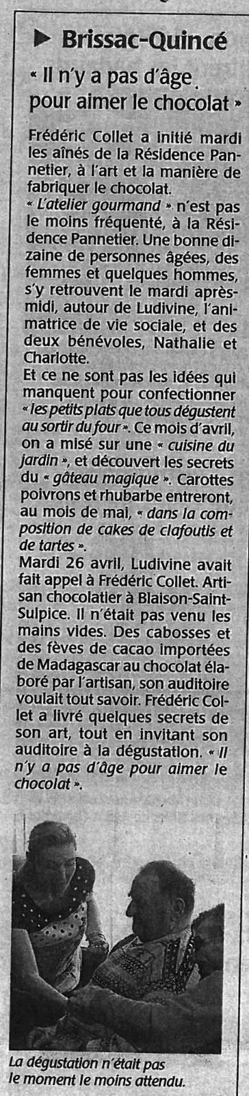 Rencontre avec M. COLLET CHOCOLATIER