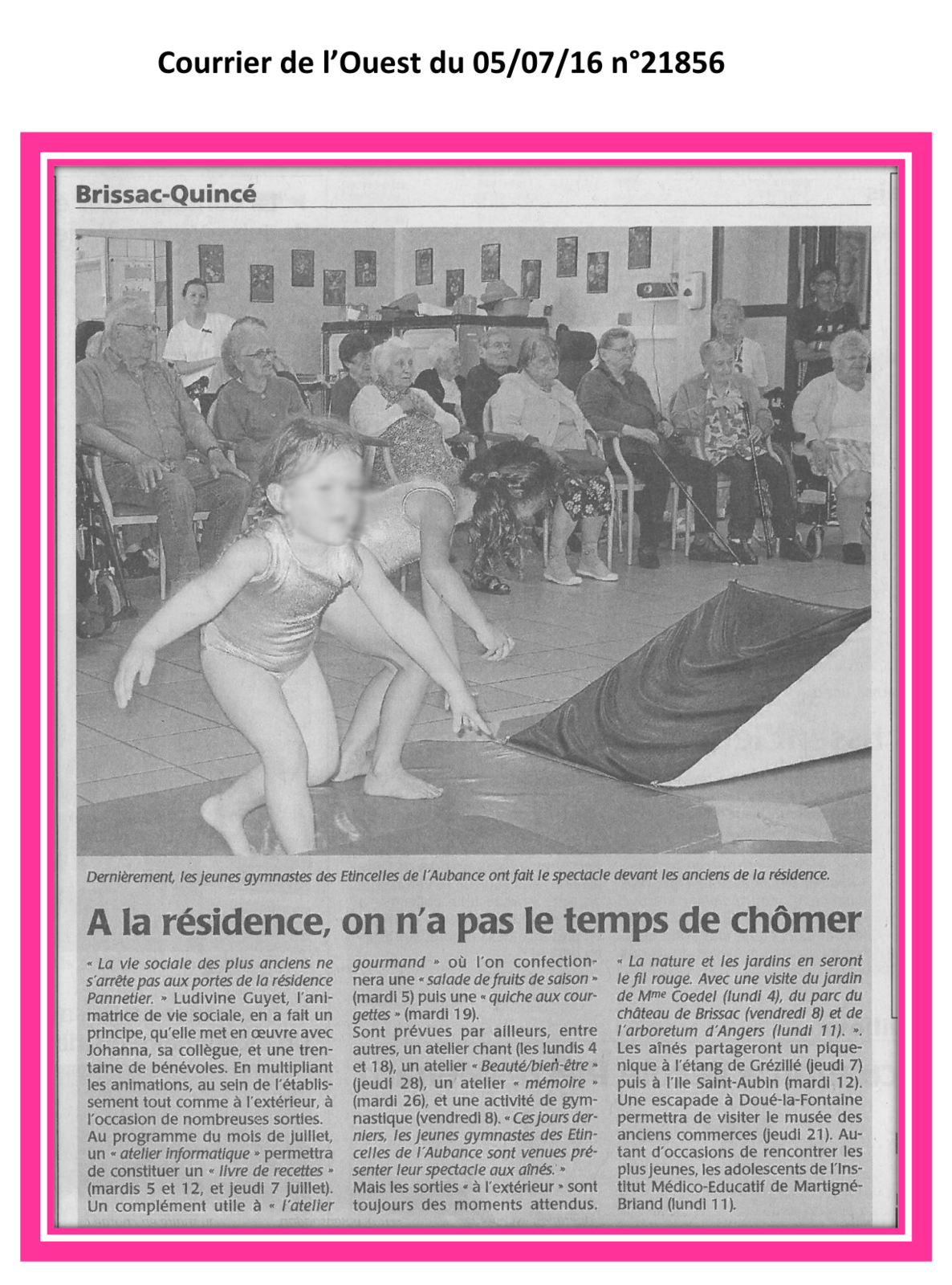 Spectacle de  gymnastique