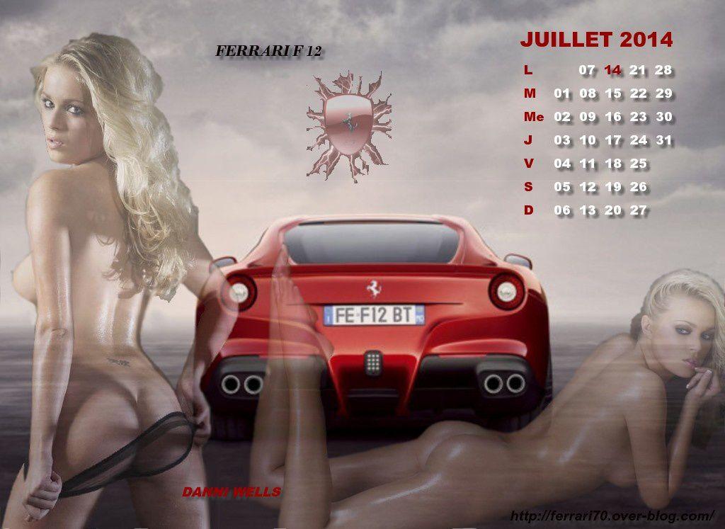 calendrier sexy juillet 2014- danni wells-ferrari F12