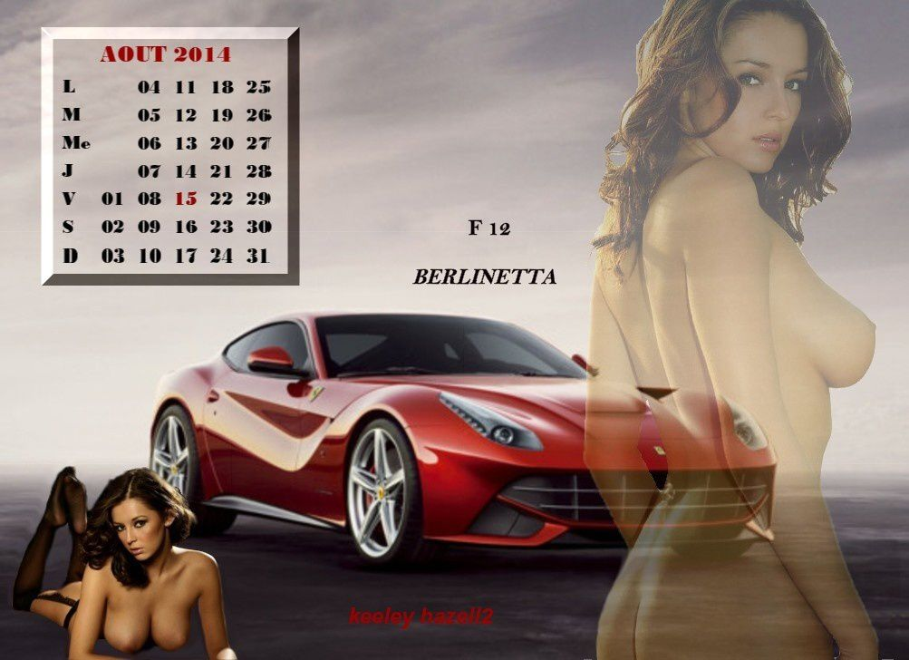 calendrier sexy aout 2014- keeley hazell-F12 berlinetta