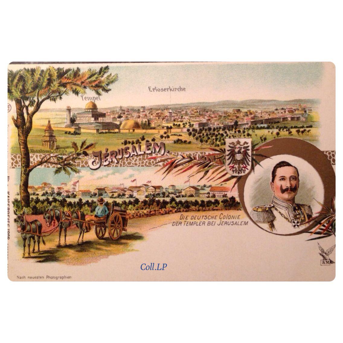 La visite du Keiser Wilhem II en 1898 en Palestine. Série exceptionnelle