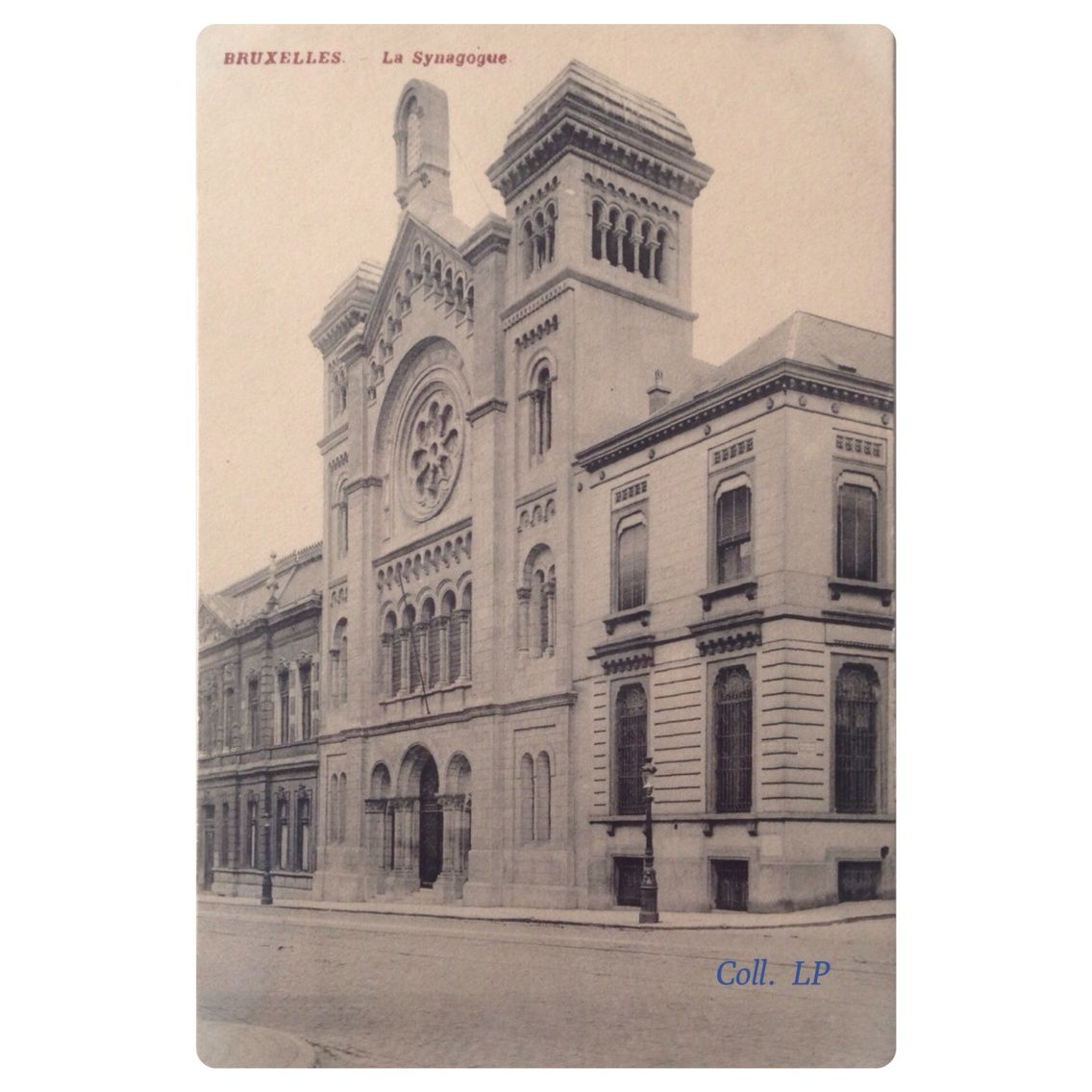 8 cartes postales de synagogue en Belgique 1900