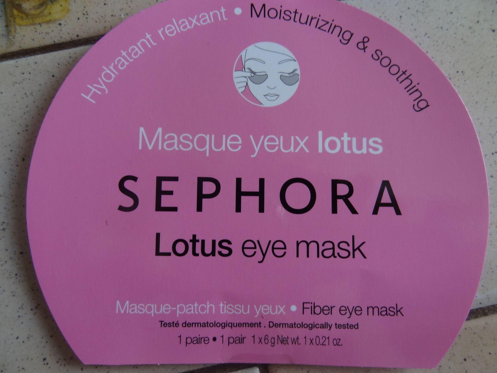 Masque yeux Lotus - Sephora