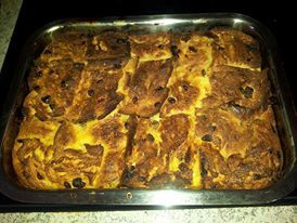 Panettone butter pudding...