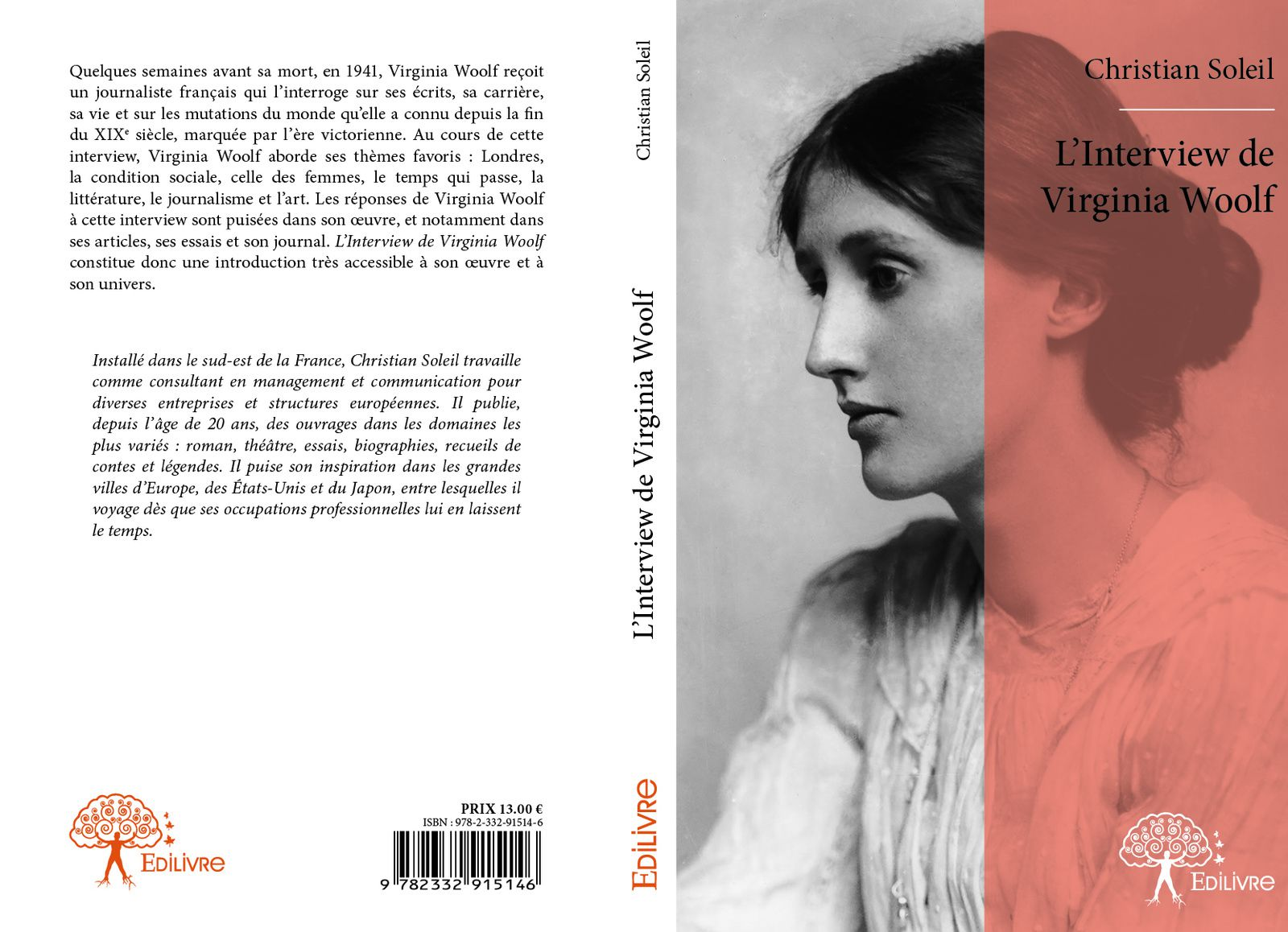 Christian SOLEIL publie &quot&#x3B;L'Interview de Virginia Woolf&quot&#x3B;