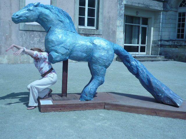 cheval Percheron en bois