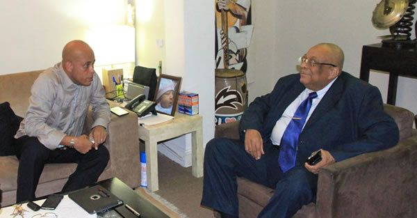 L'ex-président du Conseil Supérieur du Pouvoir Judiciaire Anel Alexis Joseph en consultation avec le président Martelly