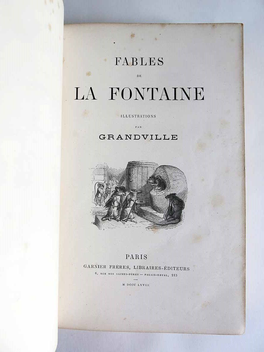 RESTAURATION DES FABLES DE LA FONTAINE ILLUSTREES PAR BENJAMIN RABIER 1906